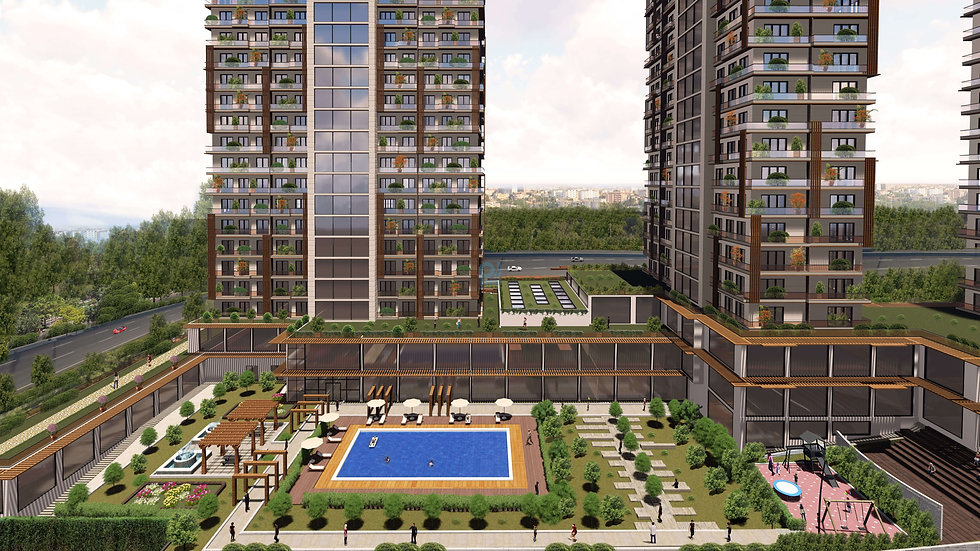 Investment apartments for sale in center Esenyurt in istanbul