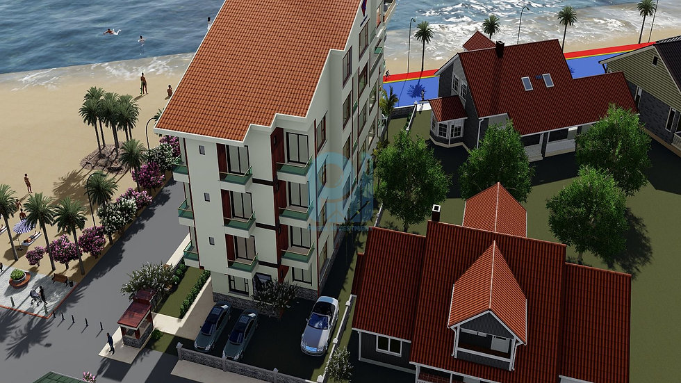 Investment apartments for sale with Sea view compound  in center Yalova