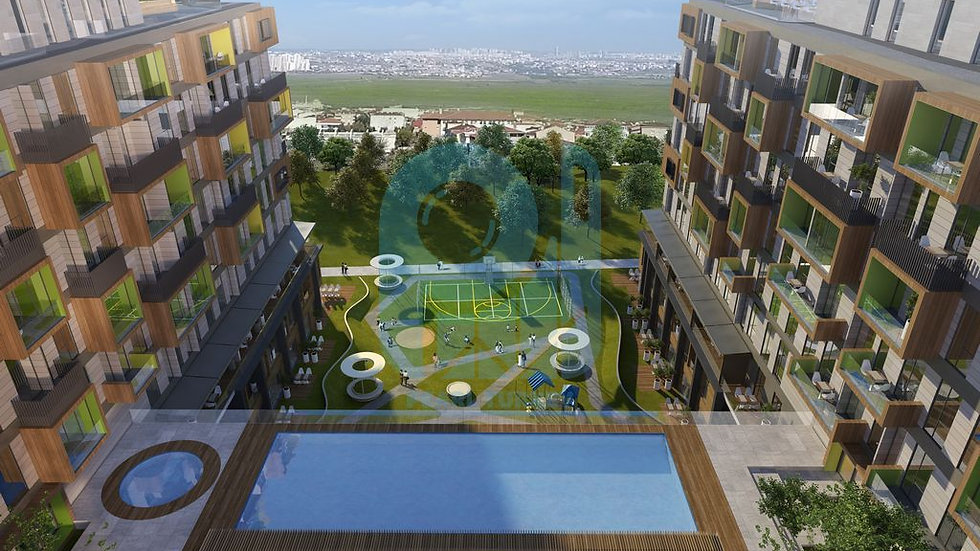 Real estate project with cheap apartments for sale in Istanbul near the sea