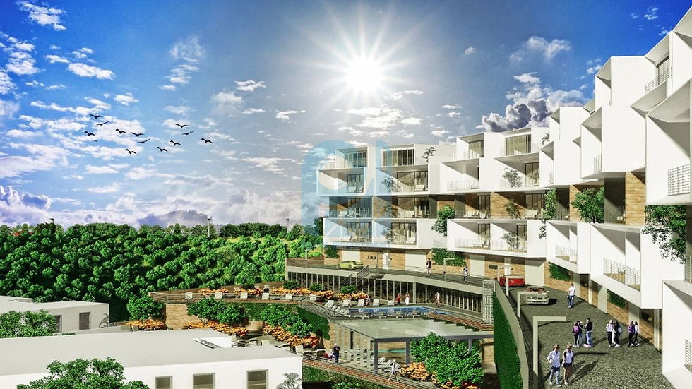 Villas and apartments for sale in bursa Mudynia with sea view