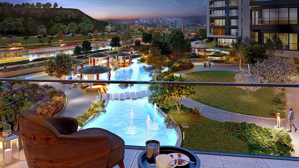 River view apartments for sale in center of Istanbul ideal for investment