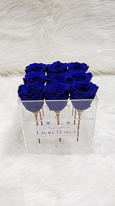 Forever in Love - 9 Eternity Roses - Royal Blue