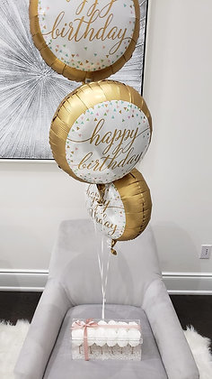 Bunch of 3 - Happy Birthday Balloons