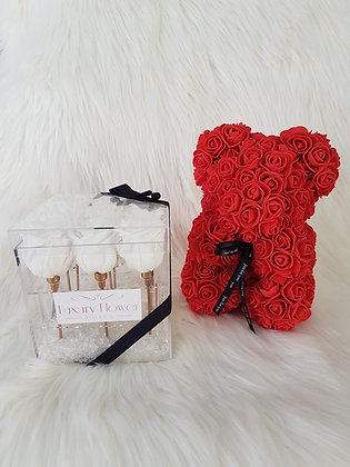 Eternity Rose and Bear Special