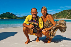 Ita Kirsch e Bala Blauth na Prainha do Arraial do Cabo - RJ