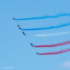 Blue, White, Red echalon
