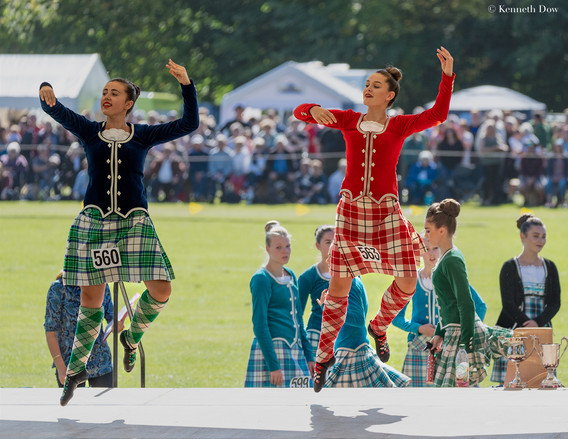 Highland dancing pair