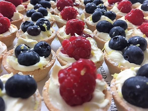 Mini raspberry & blueberry tarts