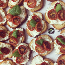 Bruschetta; goats cheese, tomato