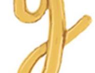 "TBS Foil - 18"" y Script style Gold Balloon"