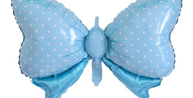TBS Foil - Blue Bow Foil Balloons