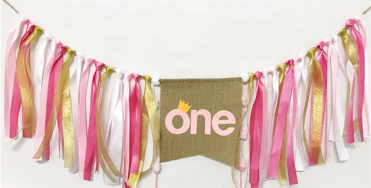 TBS_Pink High Chair Bunting