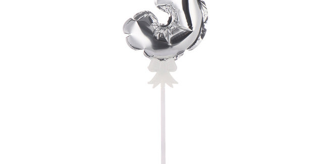 """TBS Foil - 5"""" Number Cake Topper Silver3"""