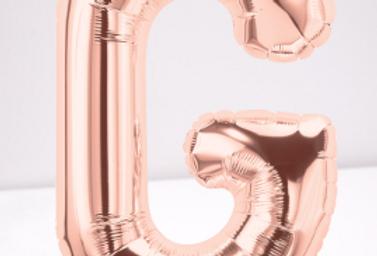 TBS Foil - G Rose Gold Letter Balloon
