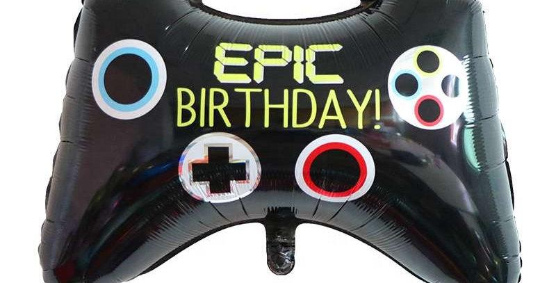 "TBS Foil - 27"" Controller/Epic birthday/Joystick Foil Balloons"