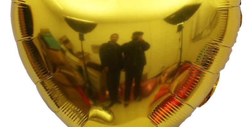 "TBS Foil - 32"" Giant Foil Heart Balloon_Gold"