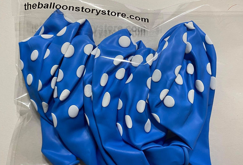 TBS Latex-BluePolka dots Balloon 10pcs/pack