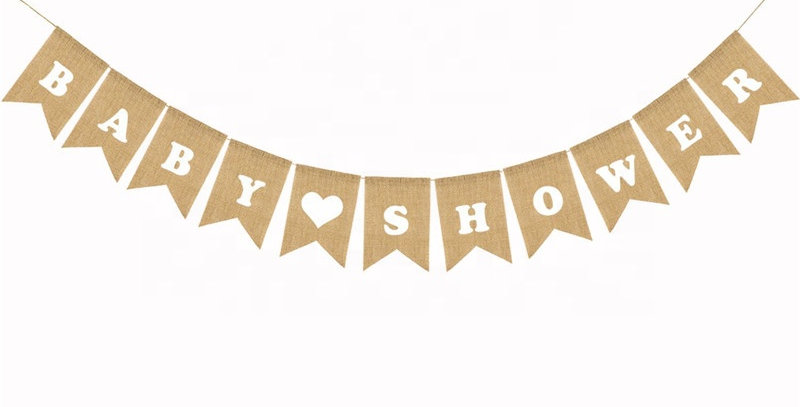 TBS Accessories- Baby Shower Banner White