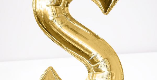 "TBS Foil - 16"" S Gold Balloon"