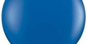 "TBS Latex-24"" Blue Matte Round Balloon"