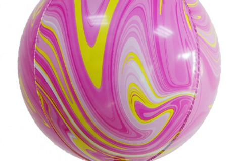 TBS Latex - Pink Agate Pattern Balloon 22""