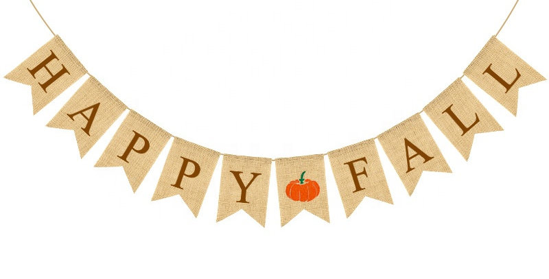 TBS Accessories- Happy Fall Burlap Banner