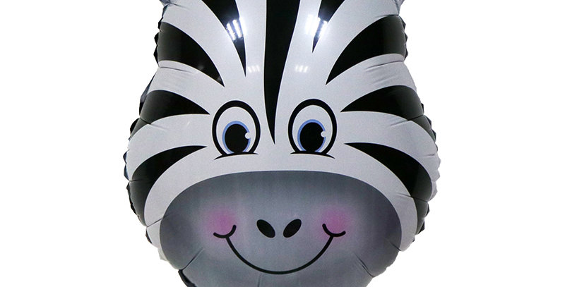 "TBS Foil - 25"" Zebra Head Foil Balloon"
