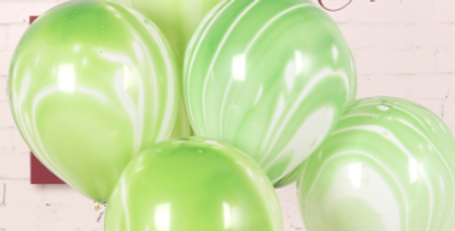 "TBS Latex - Agate Pastel Balloon 12"" Green"