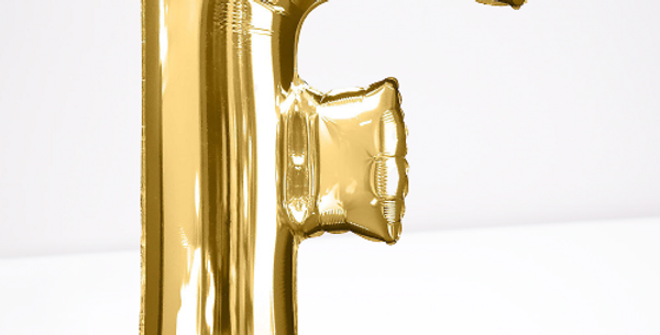 "TBS Foil - 16"" F Gold Balloon"