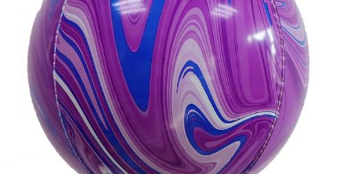 "TBS Latex - Purple Agate Pattern Balloon 22"""