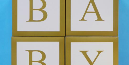 BABY Gold Balloon Box