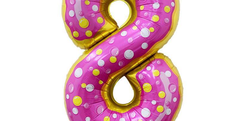 "TBS FOIL- 34"" Candy/Donut Number Foil  Balloon #8"