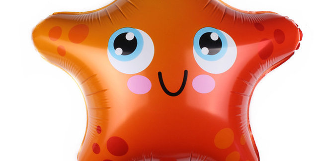 TBS Foil - Under The Sea Creatures Foil Balloon Star Fish