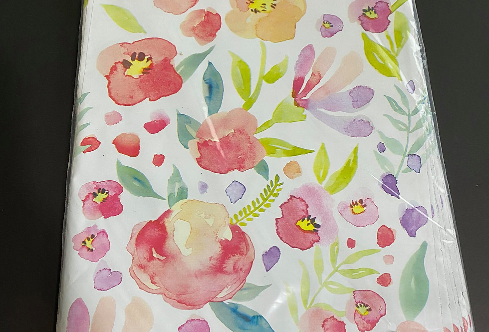TBS Accessories_100pcs Poly Mailer_Water Color Painted Flowers