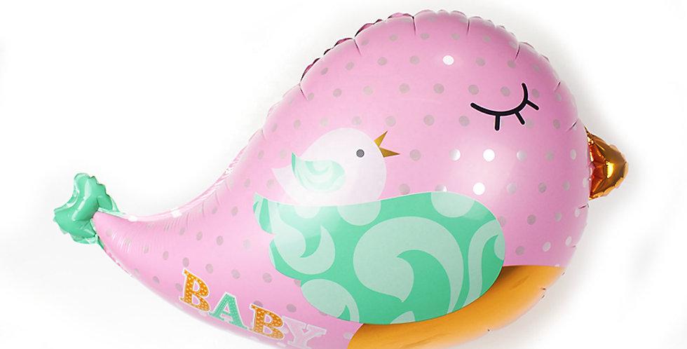 TBS Foil - Love Birds Shaped Foil Balloon pink
