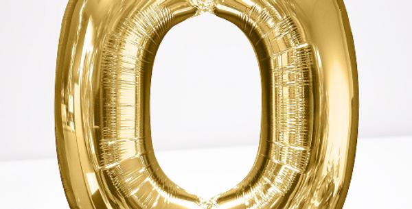 """TBS Foil - 16"""" O Gold Balloon"""