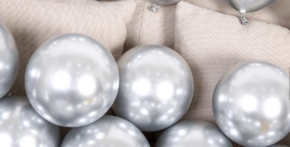 """TBS Latex - 10"""" Silver Chrome Balloon"""