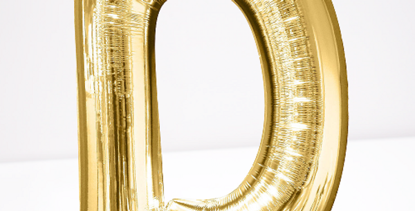 """TBS Foil - 16"""" D Gold Balloon"""