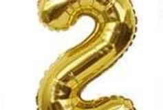 "TBS Foil - 16"" Number Foil Gold Balloon 2"