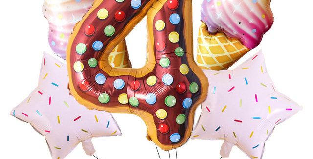 TBS Foil - Donut/Candy/Ice cream Themed Bouquet Foil Balloon 5pcs/Set