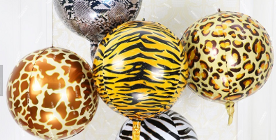 TBS Foil - 5pcs Set Animal Print Balloon 22""