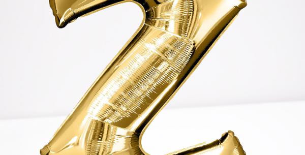 """TBS Foil - 16"""" Z Gold Balloon"""