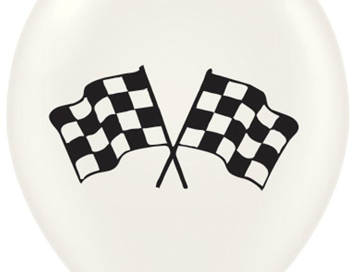 TBS Latex-Racer flag Balloon 10pcs