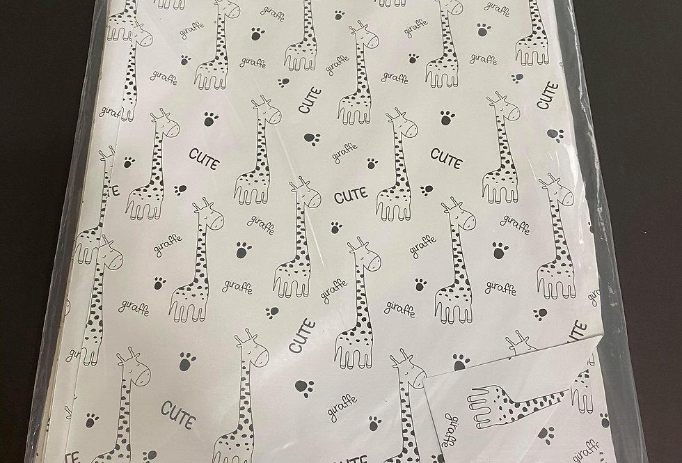 TBS Accessories_100pcs Poly Mailer_Giraffe