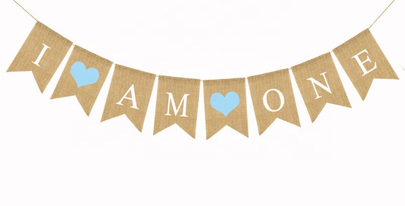 TBS Accessories- I AM ONE Burlap Banner