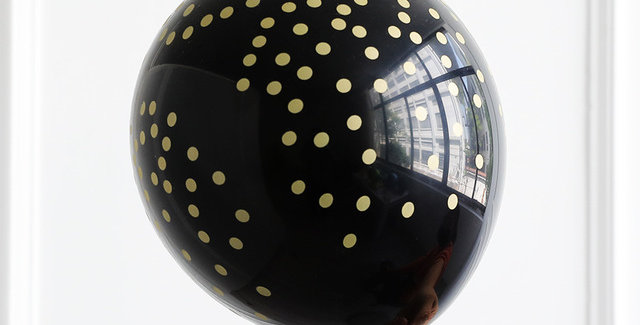 "TBS Latex - Printed Confetti Black Balloon 12"""