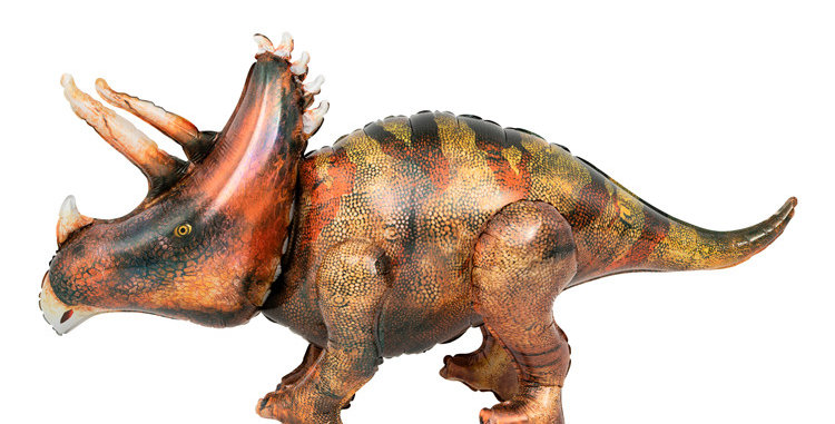TBS Foil - Triceratops 4D Foil Dinosaur Balloon