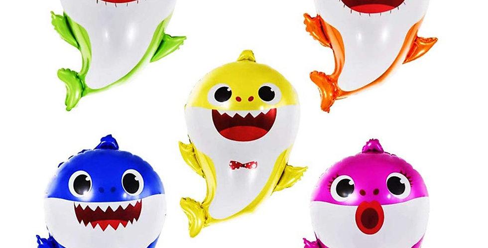 TBS Baby Shark set of 5 Balloons
