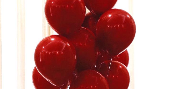 "TBS Latex-12"" Ruby Red latex balloon 10 pcs/pack"