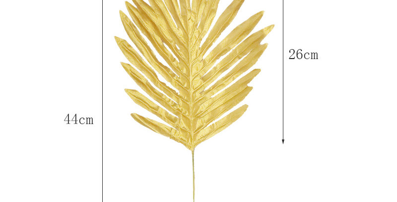 TBS Accessories - Fan Palm Fake Tropical Leaves_Gold